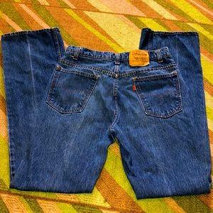 EUC VTG boho orange tab Levis jeans